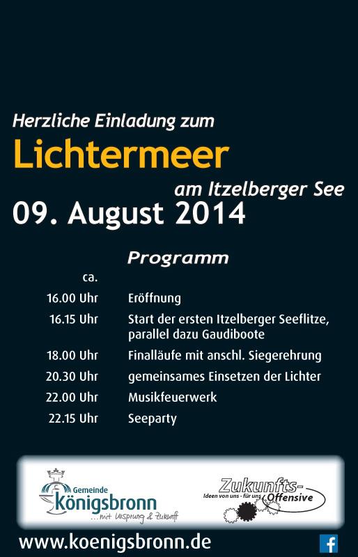Flyer Lichtermeer 2014