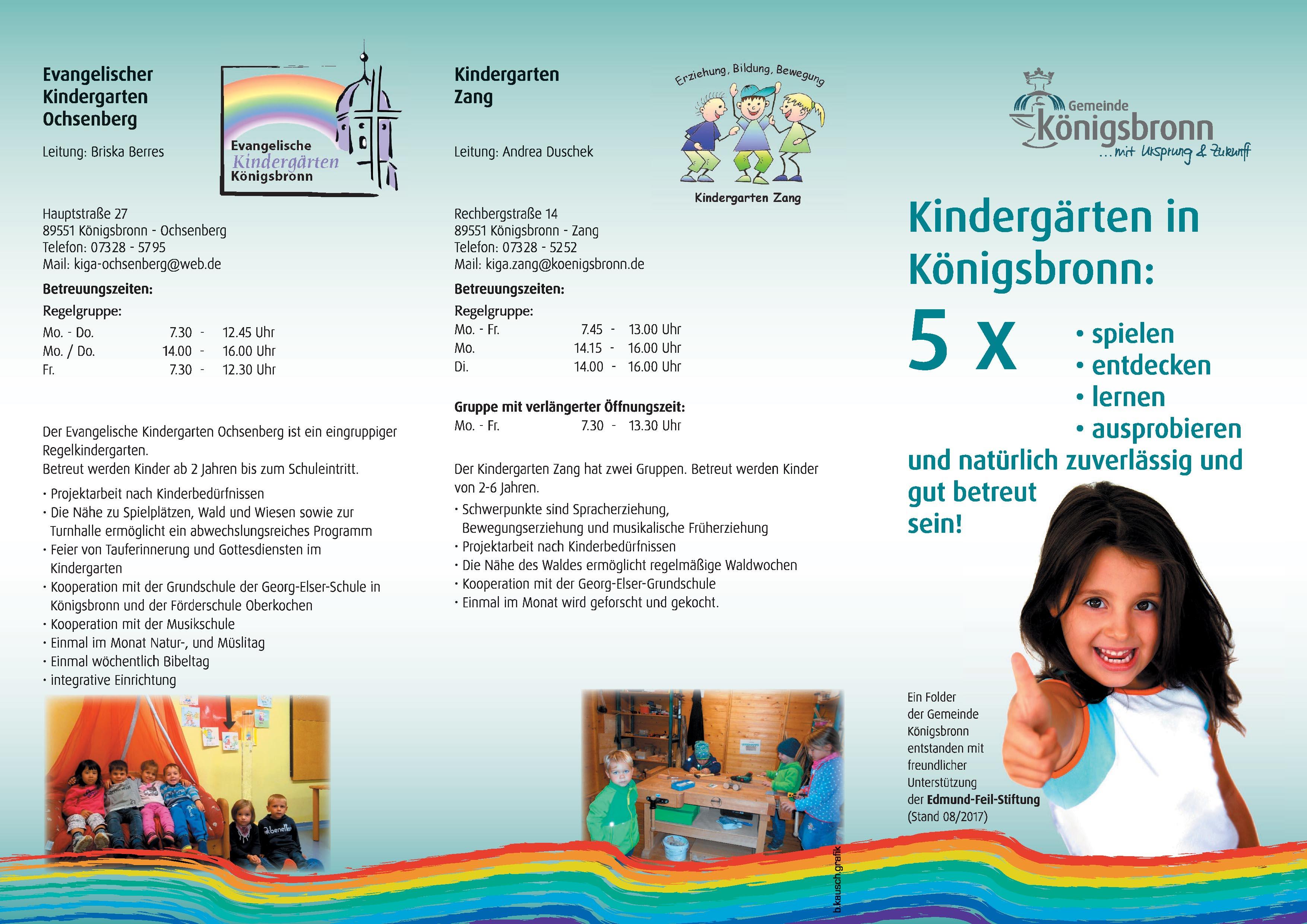 Flyer Kindergarten Seite 1
