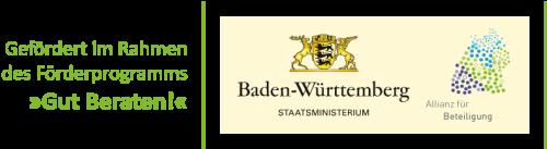"""Logo Förderprogramm """"Gut Beraten"""""""